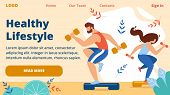 Healthy Lifestyle Horizontal Banner. Outdoor Sport, Cardio Fitness Training, Energetic Hardy Girl An poster
