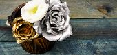 Beautiful Silver Rose. Floral Shop. Metallic Steel Color. Metal Flowers. Eternal Beauty. Rose Flower poster