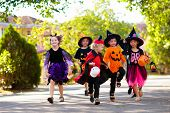 Kids Trick Or Treat. Halloween Fun For Children. poster