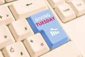 Conceptual Hand Writing Showing Giving Tuesday. Business Photo Text International Day Of Charitable  poster