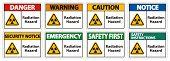 Radiation Hazard Symbol Sign Isolate On White Background,vector Illustration poster