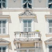 Venice Grand Canal (canal Grande). Beautiful Ancient Architecture. Windows And Balcony. poster
