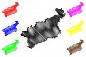 Usti Nad Labem Region (bohemian Lands, Czechia, Regions Of The Czech Republic) Map Vector Illustrati poster