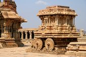 stock photo of vijayanagara  - Chariot  - JPG