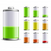 foto of cylinder  - Battery charge status vector illustration - JPG