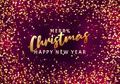 Christmas Light Vector Background. Happy Hew 2020 Year. Sparkling Magical Dust Particles. Xmas Card. poster