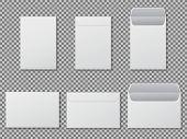 Envelope A4 Mockup. Template Paper Letter, Folder. Standard White Blank Letter Envelopes A4 Size. Op poster