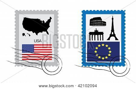 Set Of Stamps