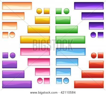 Illustration of colorful icons on a white background