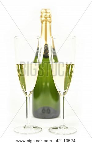 Champaign in two glasses