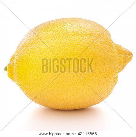 Lemon or citron citrus fruit isolated on white background cutout