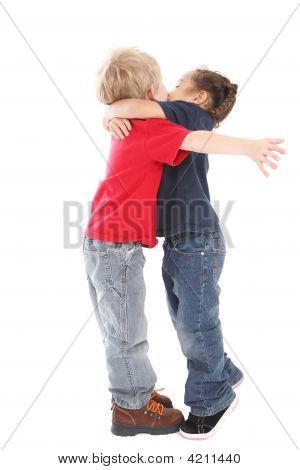 A Surprise Kiss And Hug