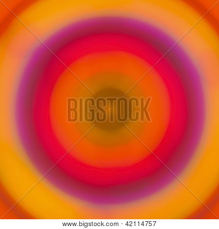 Colorful abstract bokeh lights in concentric circles