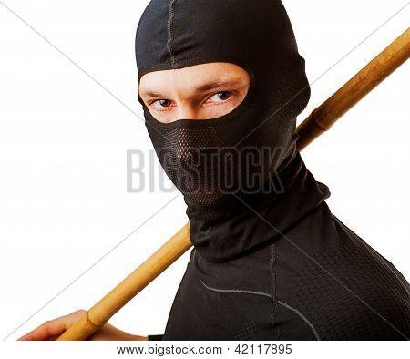 Ninja In Black Mask