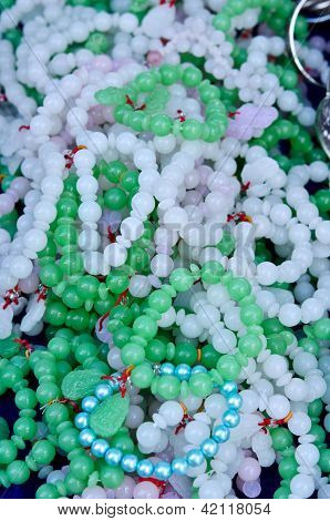 Pile Of Jade Bracelets