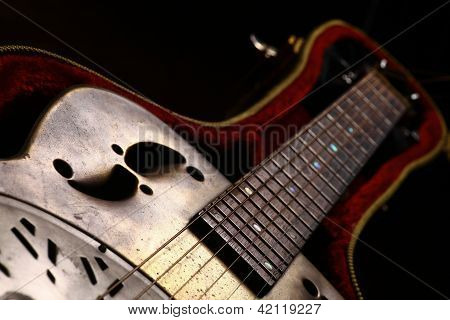 Vintage Guitar In Case