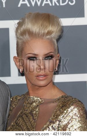 LOS ANGELES - FEB 10:  Jenna Jameson arrives at the 55th Annual Grammy Awards at the Staples Center on February 10, 2013 in Los Angeles, CA