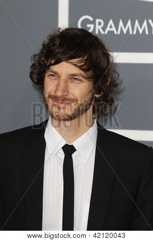 LOS ANGELES - FEB 10:  Gotye arrives at the 55th Annual Grammy Awards at the Staples Center on February 10, 2013 in Los Angeles, CA