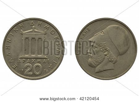 20 greek drachma