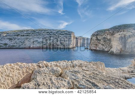 Dwajra Bay In Gozo Island, Malta.