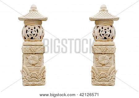 Sculpture stone of lantern