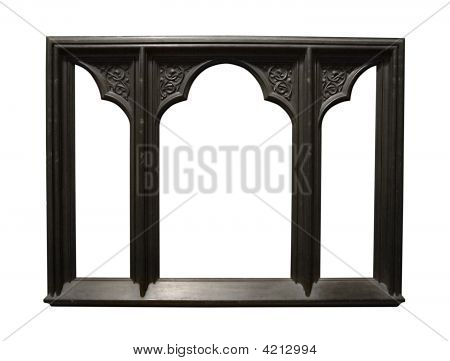 Photo Of Aged Dark Wooden Picture Frame