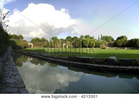 Campo verde de agua