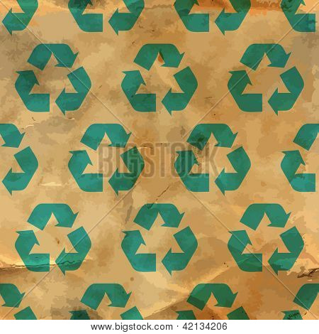 Seamless recycle backdrop. Vector pattern.
