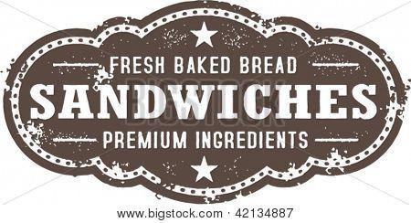 Premium Deli Sandwich Vintage Sign
