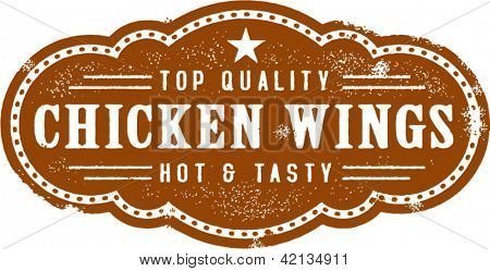 Vintage Style Chicken Wings Stamp