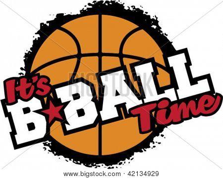 É hora de basquete