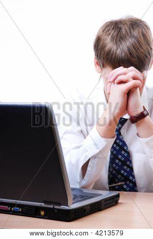 Businessman Worried
