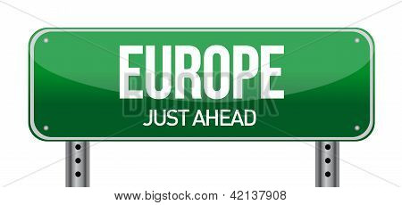 Europe Road Sign Direction