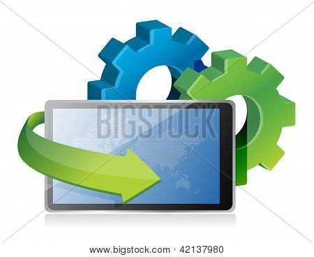 Tablet And Gears