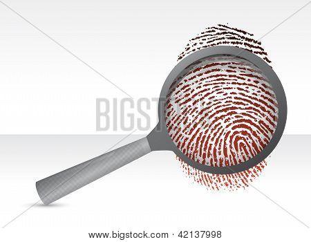 Detectives Magnifier With Fingerprint