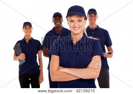 technical service team on white background