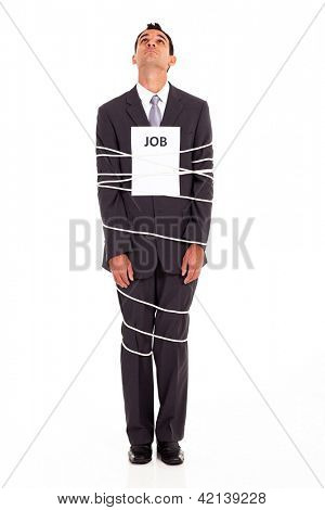 young man looking for a way out of a boring job