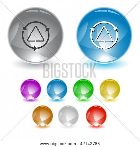 Recycle symbol. Raster interface element. Vector version is in portfolio.