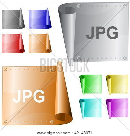 Jpg. Metal surface. Raster illustration. Vector version is in my portfolio.