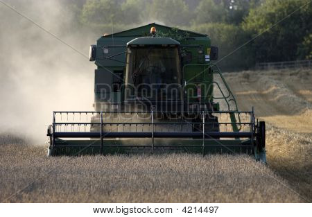 Combine Harvester Working