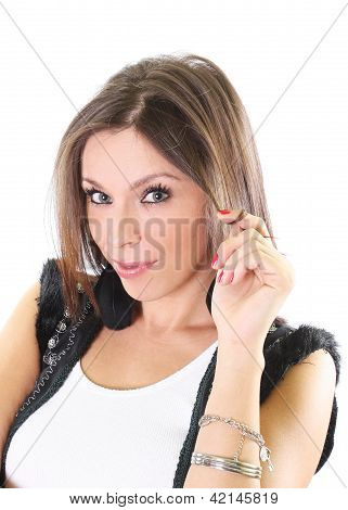 Beautiful woman portrait isoladed