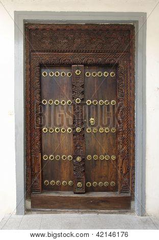 Ornamented Door In Africa