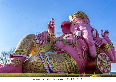 Giant Statue Of Diety Ganesh