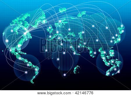 World Net Work For Business Sign