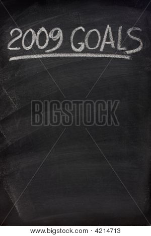 2009 Goals Title On Blackboard