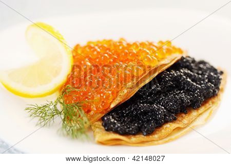 Flapjack With Caviar