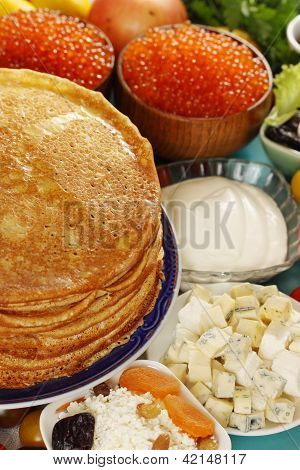 Pancakes With  Cheese