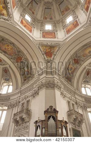 Interior Of The Dome Of The Salzburg Cathedral (austria)