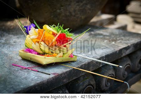 Offerings To Gods In Bali