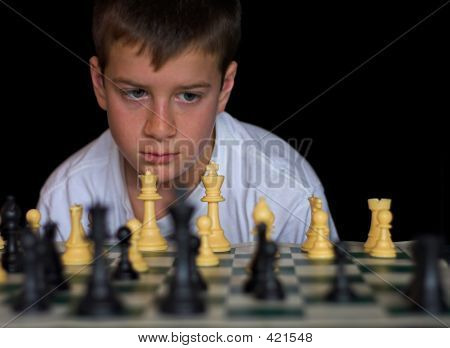 Boy Playing Chess